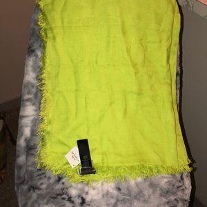 NWT lime green Coach scarf